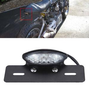 Motorcycle 12v LED Clear Rear Brake Running License Plate Tail Lights For Honda