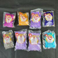 VTG Lot Of 8 1998/1999 ty Teenie Beanie Babies McDonald's Happy Meal Toys MIP