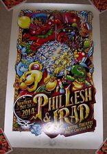 PHIL LESH concert gig tour poster NEW YORK 12-31-14 2014 Star Remarqued Masthay