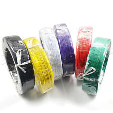 Electronic Wire PVC  Stranded Hook Up Wire  11 Color UL1007 300V 80°