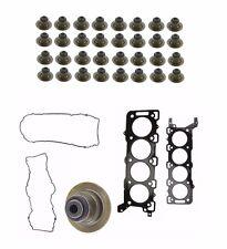 For Jaguar Engine Set of 32 Valve Stem Oil Seal & Valve Cover Gasket+Head Gasket