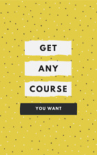 Get any course you want and save your money (Fast Email Delivery)