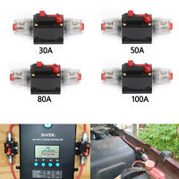 30-100A Automatic Circuit Breaker Inline Reset Replace Fuse for Car Audio Red A5