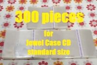 Resealable Outer Replacement Plastic Sleeves for CD Jewel Cases 300 pieces