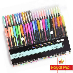 48Gel Pens Set Metallic Pastel Glitter Neon Marker Pen For Adult Colouring Book