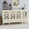 Driggs 4 Door French Country Accent Sideboard Cabinet Storage Distressed Inlay