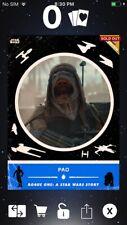 Topps Star Wars Digital Card Trader Blue RO Retro Rewind Pao Insert