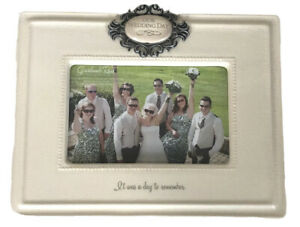Ceramic Our Wedding Day Picture Photo Frame Cream Ivory A Day To Remember 4x6