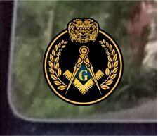 "ProSticker 035 (One) 4""  Masonic Freemason Wreath Decal Sticker Scottish Rite"