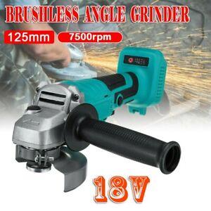 For 18V Li-ion 125mm Cordless Brushless Cordless Angle Grinder Tool Bare