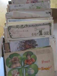 300 Thematik Motiv Ansichtskarten 1895-1930 Karton u.a.  viel Frauen Glückwunsch