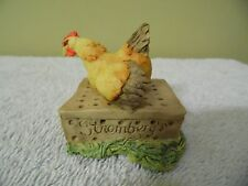 "Schmid Border Fine Art Lowell Davis ""Mother Hen "" mini figurine.Signed"