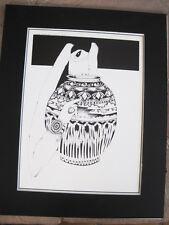 Amado Pena Native American Yaqui BW Rare Matted Print ARTESANO 16 x 20
