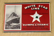 2012 Cult-Stuff RMS TITANIC 100-year ARTIFACT card green baize fragment TA1 SP