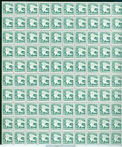 US 2111 D Eagle Domestic Postage Sheet of 100 MNH P# 3, right margin, One zip