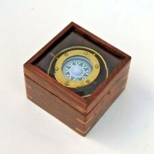 GIMBAL COMPASS BOXED ~ NAUTICAL COMPASS ~ MARITIME ~ PIRATE ~ COMPASS
