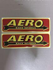 Lot Of 2 AERO RACE WHEELS Racing Stickers/ Decals