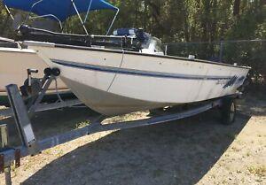 "1995 Sea Nymph 16'10"" Aluminum Boat & Trailer - North Carolina"