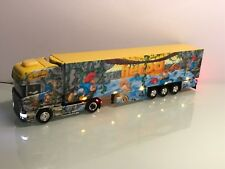 Herpa Umbau Modell LED Beleuchtung Monument Truck II J. Schmid Scania R Koffer