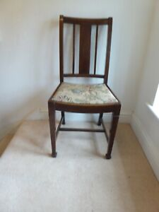 Antique 1940's Oak Dining Chair