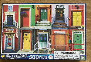 Puzzles: Puzzlebug Jigsaw Puzzle - Colourful Doors (500 pieces)