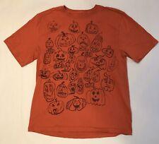 Custom T-shirt Hand Drawn Jack O' Lantern Halloween Medium