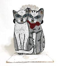Beaded Kitty Cat Friends Crossbody Shoulder Bag Clutch Glistening Kittens Purse
