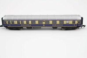 Rheingold Passenger Car 2.Klasse A. Set 8133 Märklin Mini Club Z Gauge + Top+