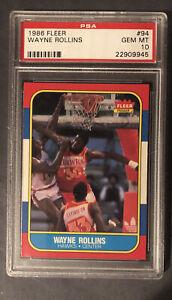 Wayne Tree Rollins 1986 Fleer #94 PSA 10 NBA/ Hawks
