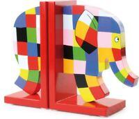 Vilac Elmer Book Ends Baby/Toddler/Child Wooden Shelf Nursery Accessory BNIP