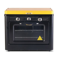 Devanti PGO-01-BK-YE Portable Outdoor Gas Oven Burner - Black