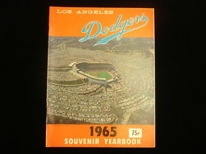 1965 Los Angeles Dodgers Yearbook
