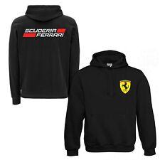Felpa Personalizzata Scuderia Ferrari Auto con Cappuccio uomo bambino donna