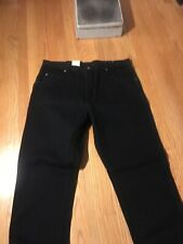 WRANGLER Rugged Wear Relaxed Fit Black Denim Jeans NWT 40x29