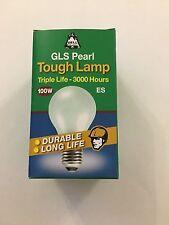 BELL 3 Pack x 100Watt ES/E27 Pearl Triple Life GLS Lamp