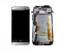 Original HTC One 2 M8 LCD Display Touchscreen Digitizer Touch & Rahmen Silber