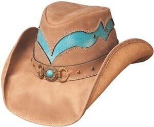 CASCADE RANGE Camel Turquoise Leather Western Cowboy Hat Bullhide MonteCarlo M 7