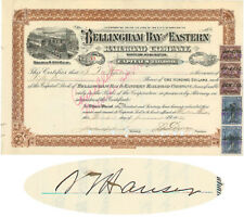 Bellingham Bay And Eastern Railroad Company Signed By Samuel T. Hauser