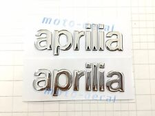 Aprilia Raised 3D Chrome Silver Decal Emblem Sticker RS250 RSV1000 RS4 SMV750