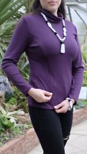 Comfortable turtleneck top for breastfeeding nursing, purple, maternity.