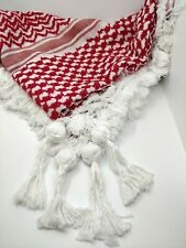 Red & White Palestinian Shemagh (scarf)Genuine & Original 100% Cotton Guaranteed