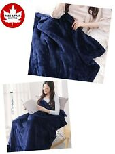 Large Electric Twin Size Heated Blanket With Adjustable Timer & 3 Heating Levels
