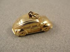 Good Vintage 9ct Solid Gold OLD VW BEATLE CHARM / Pendant. Hallmarked 1971