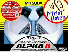 Mitsuba ALPHA II 2 WHITE HORN MBW-2E17W Car Horn made in Japan