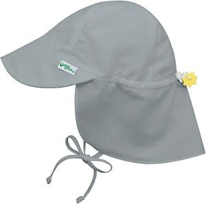 i play. by green sprouts 239147 Baby Girls Sun Hat Solid Gray Size 0-6 Months