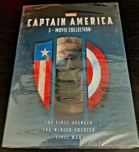 Captain America 3-Movie Collection DVD (Marvel / Brand New / Free Shipping)