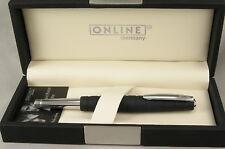 Online Germany Business Line Black Rubberized & Chrome Rollerball Pen - New