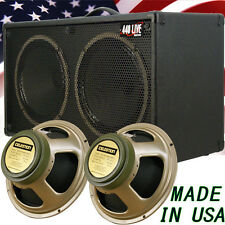 2x12 Guitar Speaker Cabinet bronco Black Tolex W/Celestion Green Back speakers