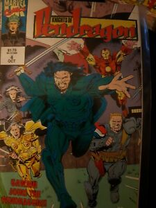 The Knights of Pendragon 2nd series #4 Oct 1992 Marvel Uk Comic  Overkill tales