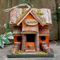 Vintage Wood Garden Outdoor Tree Hanging Nesting Box Bird House Feeder Station
